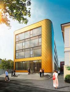 Ein Goldstück: So soll das Gebäude im Mai zur Eröffnung aussehen.