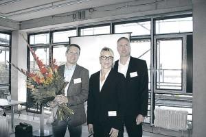 Auftakt gelungen: Gastredner Holger Koschek (links), Projektkoordinatorin Angelika Franz und Jan Petersen, Mitinitiator des Ingenieurwerks.
