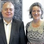 Vorsitzender Uwe Fricke und Geschäftsführerin Stefanie Feindt