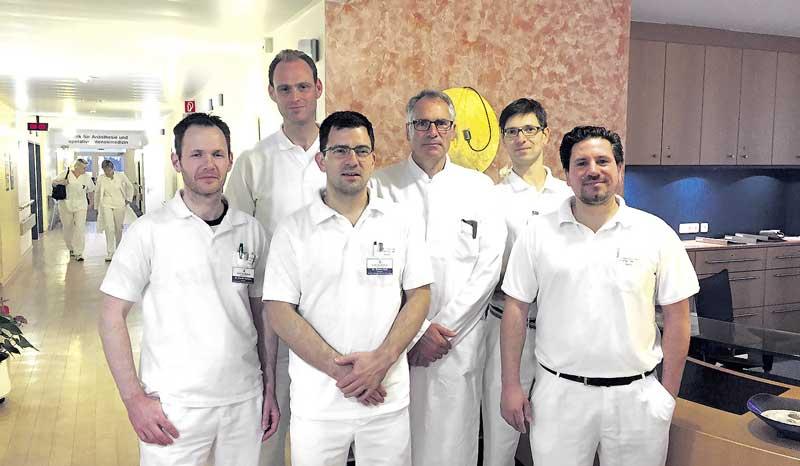 Dr. Daniel Decker (von links), Andreas Langenstein, Dr. Daniel Bali, Dr. Jörg Franke, Dr. Michał Korecki und Stefan Martin.