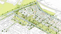 Diese Grafik zeigt den Entwurf von Hosoya Schaefer Architects: So soll sich Wilhelmsburg in den kommenden zehn Jahren auf der Nord-Süd-Achse entwickeln.