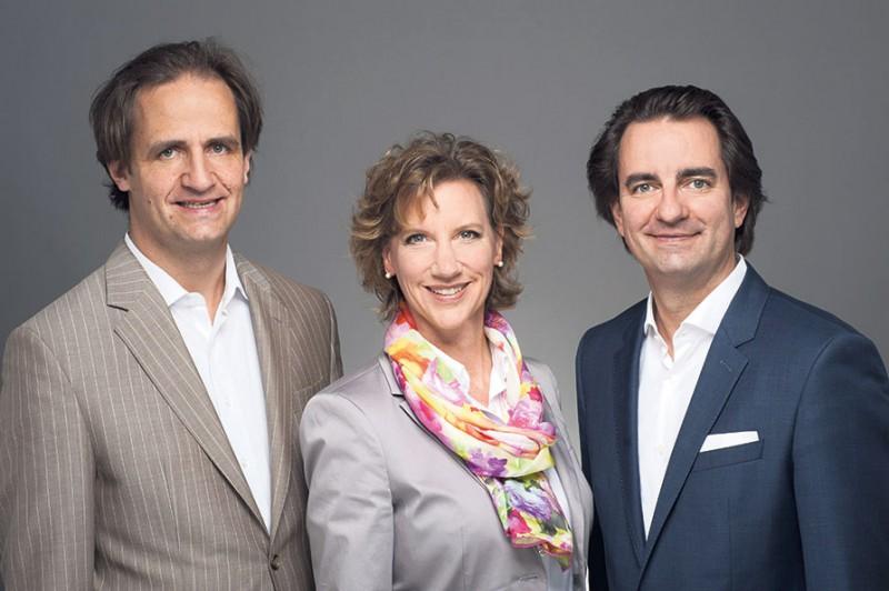 Sie stehen für die Entwicklung von terra Real Estate: die Geschäftsführer Michael (links) und Andreas Tietz sowie Tari Van Noy, zuständig für Marketing und Vertrieb.