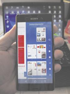 Praktisch: Die App ermöglicht eine perfekte Übersicht der jeweiligen Seiten einer Ausgabe.