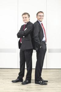 Holger Knappe (links) und Arent Bolte, Regionalbereichsleiter.