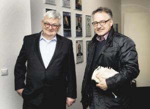 Vor dem Vortrag hatte B&P-Redakteur Wolfgang Becker exklusiv Gelegenheit, ein Interview mit Joschka Fischer zu führen.