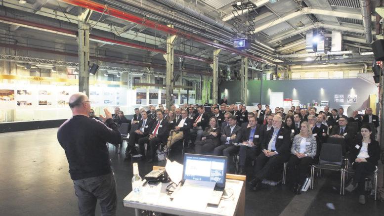 Gut 100 Mitglieder und Gäste des Wirtschaftsvereins für den Hamburger Süden in der Alten Schlosserei bei Aurubis – Thema: die Entwicklung der Rohstoffmärkte.
