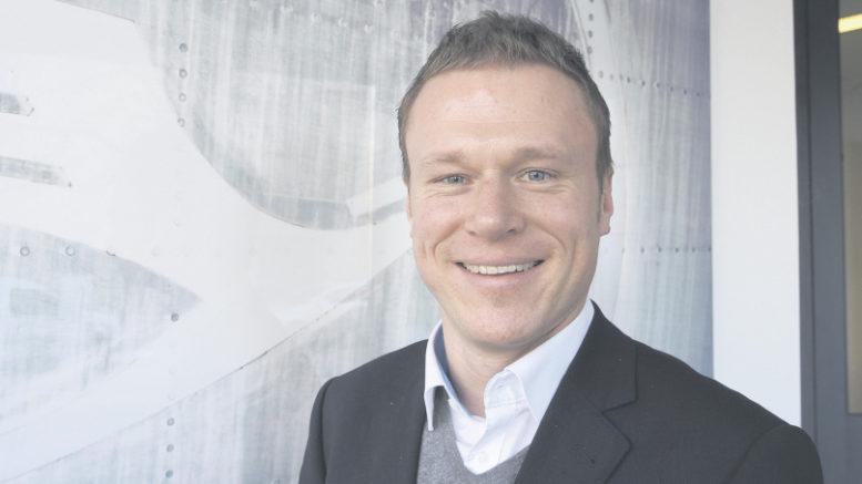Wechselt zwischen Frankfurt und Hamburg: Tobias Dony (37) ist seit Jahresbeginn Geschäftsführer der AviationStaffManagement GmbH. Foto: Wolfgang Becker