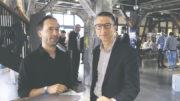 Beim Hamburg Innovation Summit: Dr. Markus Kähler (rechts) im Erfindergespräch mit Prof. Dr. Florian Grüner von der Universität Hamburg. Foto: DESY