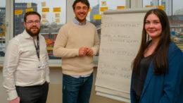 Studenten und Unternehmer: Jannik Meissner, Tim Lehner und Laura Nienstädt